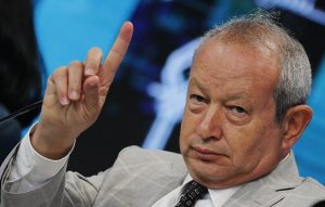 Egyptian billionaire Naguib Sawiris, chairman of Orascom TMT Holding, speaks during the Egypt Economic Development Conference (EEDC) in Sharm el-Sheikh, in the South Sinai governorate, south of Cairo, March 14, 2015. Sawiris, one of Egypt's top businessmen, said on Saturday the country needs to fire inefficient civil servants in order to attract investment and strengthen the economy. REUTERS/Amr Abdallah Dalsh  (EGYPT - Tags: BUSINESS POLITICS) - RTR4TC81