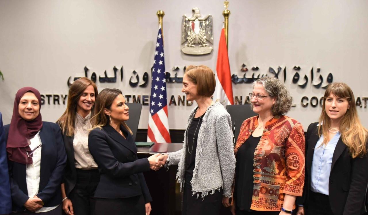 جانب من اتفاق مصر وأمريكا على دعم البنية الأساسية بمحافظات الصعيد