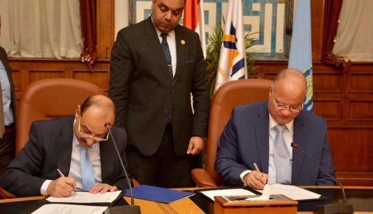 جانب من توقيع بنك التنمية الصناعية مع محافظة القاهرة