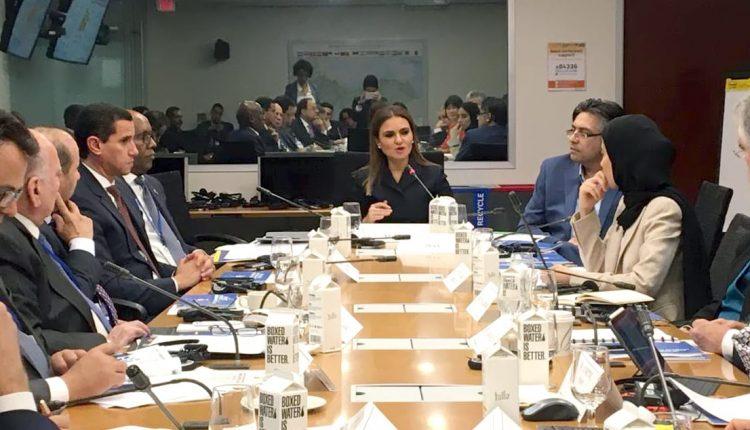 جانب من اجتماع وزيرة الاستثمار مع البنك الدولي