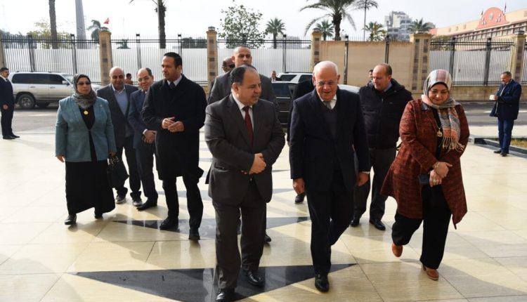 وزير المالية ومحافظ بورسعيد